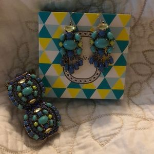 Stella and Dot earrings and bracelet set